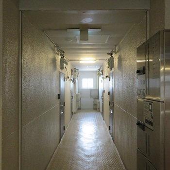 共有廊下は内廊下となります