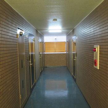 共有廊下は室内です!