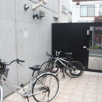 自転車はここにとめられます