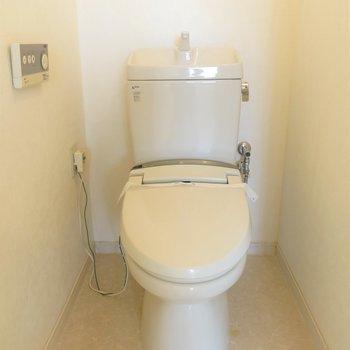 お部屋の中央にトイレがあります。