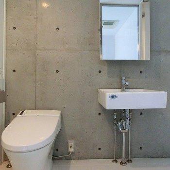スタイリッシュな洗面台。※掲載写真は類似間取り反転別部屋のものです