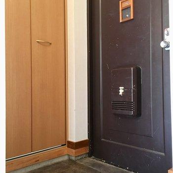 玄関はコンパクト…でも横の扉の中は