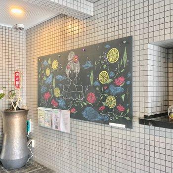 黒板アートが素敵〜!