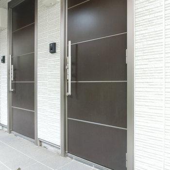 107号室の玄関扉
