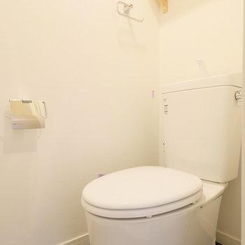 トイレにも棚があるのは地味に嬉しいポイントです!