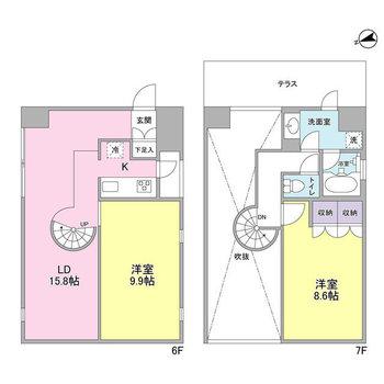 洋室2部屋も広いですね!