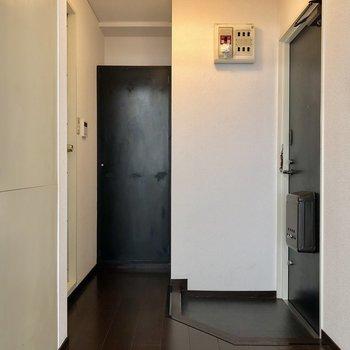 玄関もコンパクト!