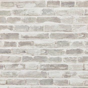 白いレンガ風の壁がおしゃれ〜