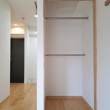 扉のないタイプの収納です