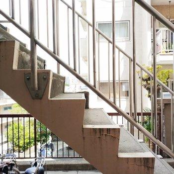眺望は目の前は階段です