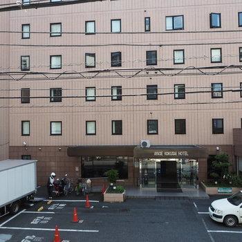 【写真は工事前】目の前はホテルになります