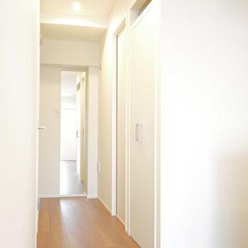 お部屋から玄関。姿見ついてます!※写真は同間取り別部屋のものです!