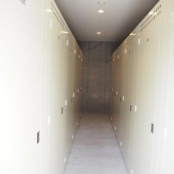 ここはトランクルーム。ずらーっと!