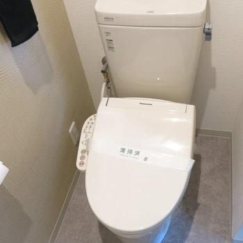 キレイなトイレだと嬉しい!