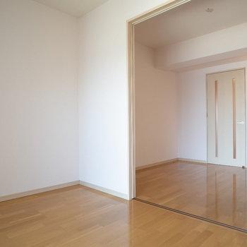 あけたら広く使えます!※写真は6階の同間取り別部屋のものです