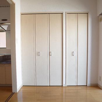 洋室の収納※写真は6階の同間取り別部屋のものです