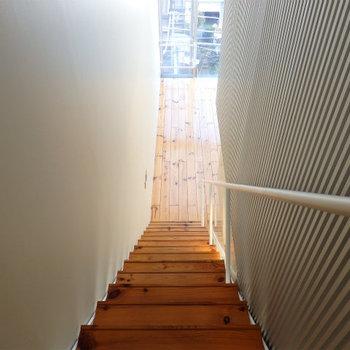 長い階段です※写真は似た間取りの5階のお部屋のものです