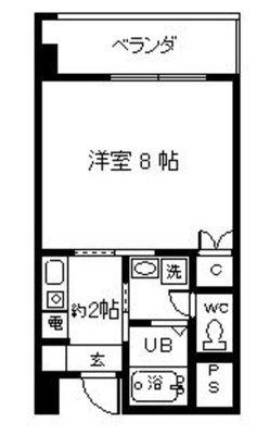 エミリエ大濠 唐人駅の間取り図
