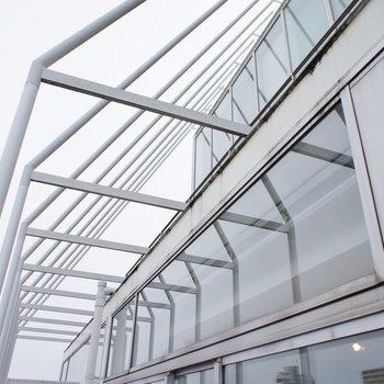 バルコニー、透明感※写真は4階の同じ間取りの別部屋になります。