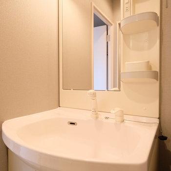 洗面台は既存ですが綺麗です!