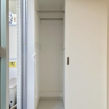 クローゼットはスーパースリム!※2階の反転間取り別部屋の写真です
