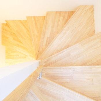 ぐるぐる木の螺旋階段。