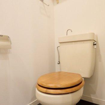 木便座のついたトイレが向かい合っています。