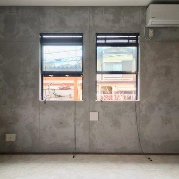 この2つ並んだ窓が可愛いんですよね