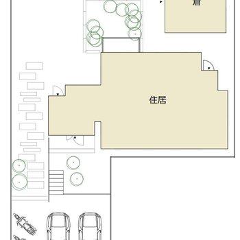 駐車場、お庭、蔵のある贅沢戸建て