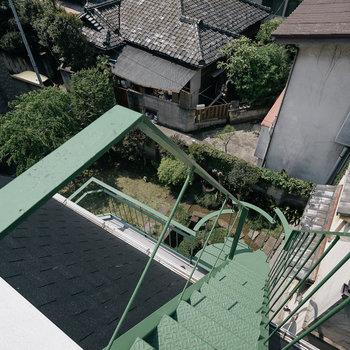 こちらがその階段