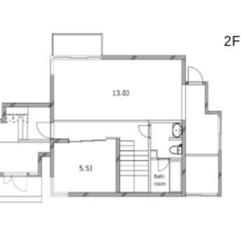 地下1階、地上2階建ての戸建てです