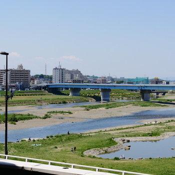 二子玉川駅から多摩川です。