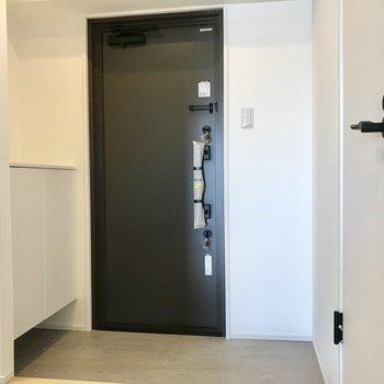 玄関扉もリフォームされてます!