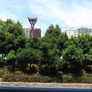 靭公園に住んでいるかのような身近さ。 ※写真は201号室