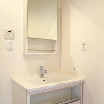 独立洗面台もございます。 ※写真は201号室