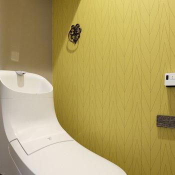 トイレは黄色で!※写真は別部屋反転間取りのものです