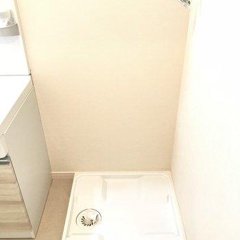 洗濯パンはしっかり室内にありますよ