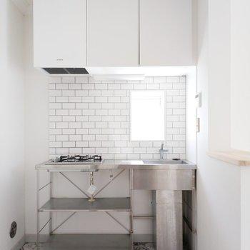 キッチンもタイルも特別仕様!かわいいなぁ〜!