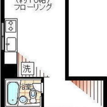 和室とLDKとバルコニー