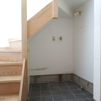 洗濯機は玄関横です。※写真は前回募集時のものです