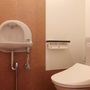 トイレには手洗い場もあるのが嬉しい