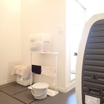 脱衣所のスペースは広々です。