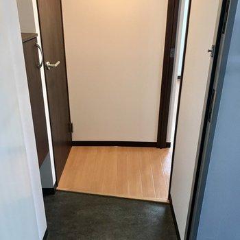 小さめの玄関。