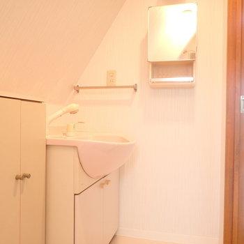 5階にも洗面台と