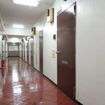床がツルツルな共用部!しっかり清掃されています。