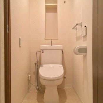 トイレもキチンと個室です ※同階同間取り別部屋の写真です