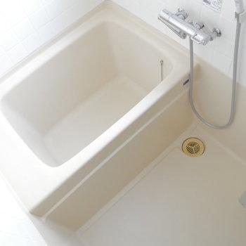 お部屋に比べるとややコンパクトめなお風呂。