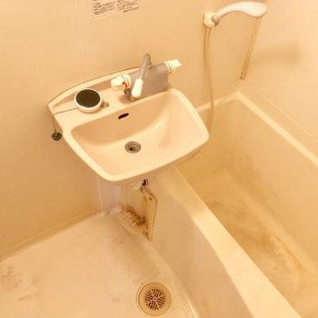 キッチン横からバスルームへGO!2点ユニットなんだなぁ※写真は前回募集時のものです