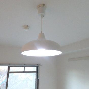 この照明、かわええ。