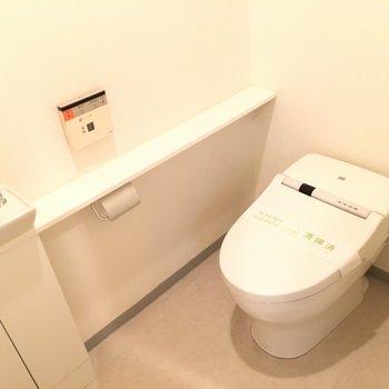 トイレ。横の棚が人的にお気に入りです ※4階の同間取り別部屋の写真です